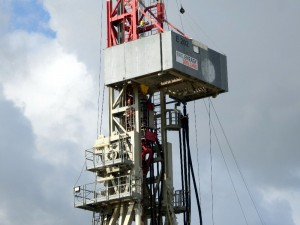 Close up Drilling Rig E202