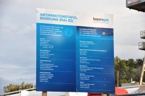Info-Tafel an der Bohrung Reudnitz Z2