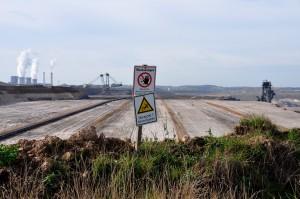 Braunkohle-Abbau in der Grube Inden, NRW