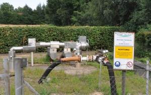 Lagerstättenwasser-Leitungen bei Fleestedt, Lk. Harburg